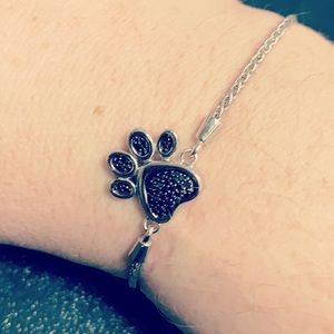 Kay's black diamond paw bracelet